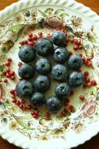 Blueberries and Pink Peppercorns