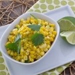 Fresh Corn Saute with Coconut Milk and Sriracha