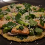 Salmon Coconut Pizza