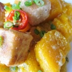 Pumpkin in Coconut Milk with Crispy Tofu