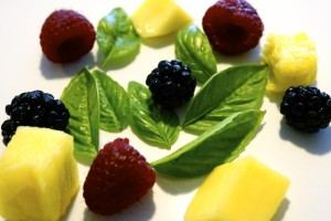 Fruit and Basil