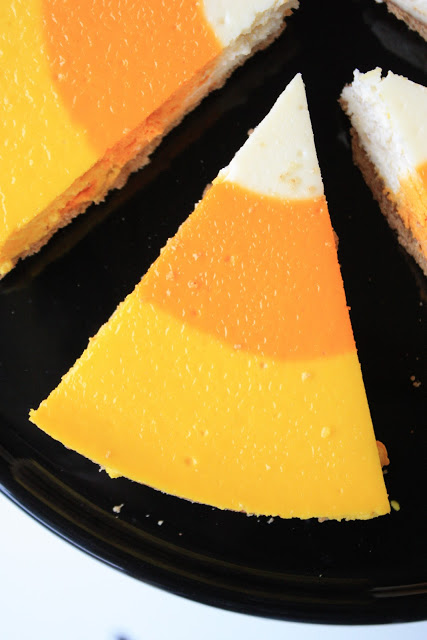 candy corn cheesecake 011