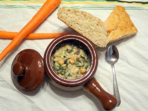 Creamy Veggie and Bean Soup