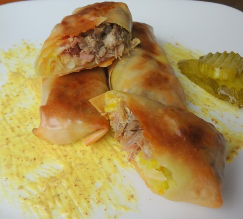 Baked Cubano Eggroll