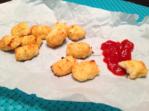 Cheesy Cauliflower Tots