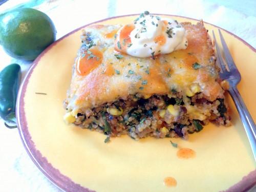 taco quinoa bake