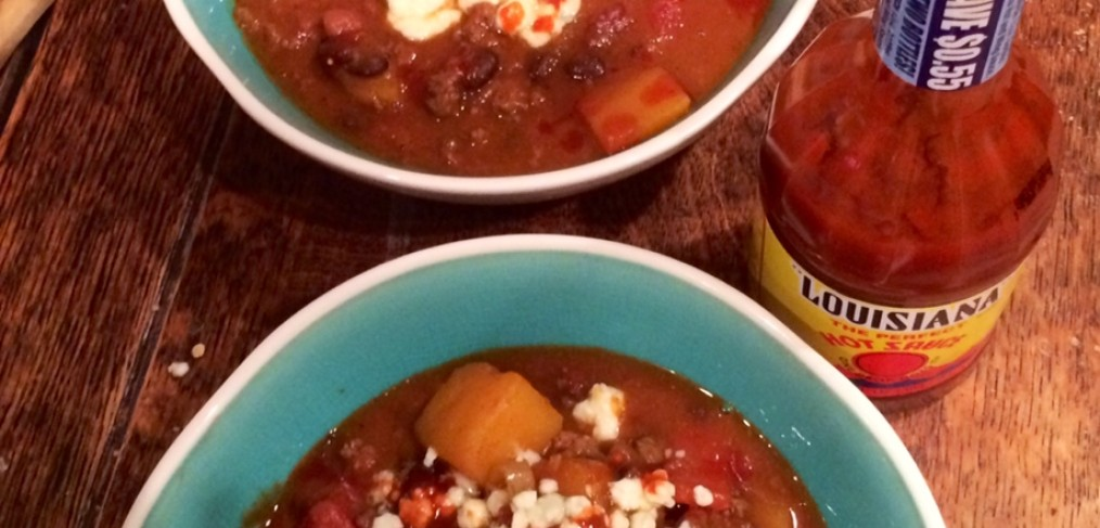 Butternut Bison Blue Cheese Chili