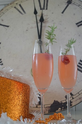 Berry Pear Champagne Cocktail