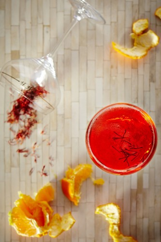 Saffron Champagne Cocktail