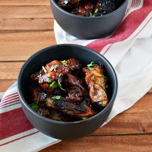 Chipotle Cherry Chicken Wings