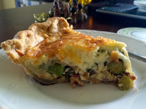gruyere and brussels sprouts quiche