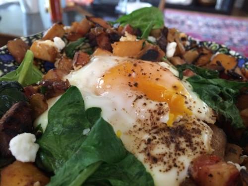 Rutabaga Hash Egg Yolk