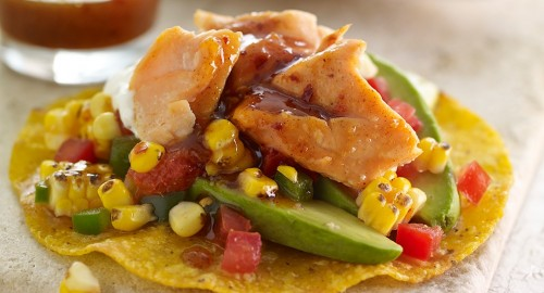 Salmon-Tostada-with-Chamoy-and-Charred-Corn-Relish_Recipes_1007x545