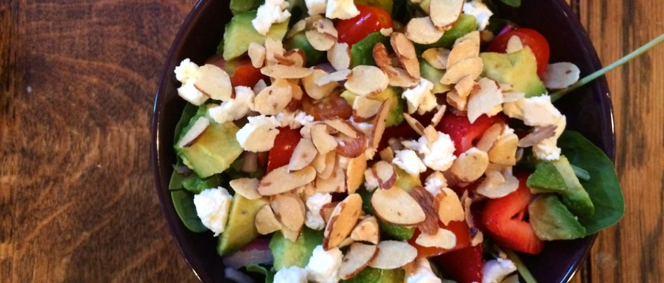 Honeyed Strawberry Avocado Salad with Almonds