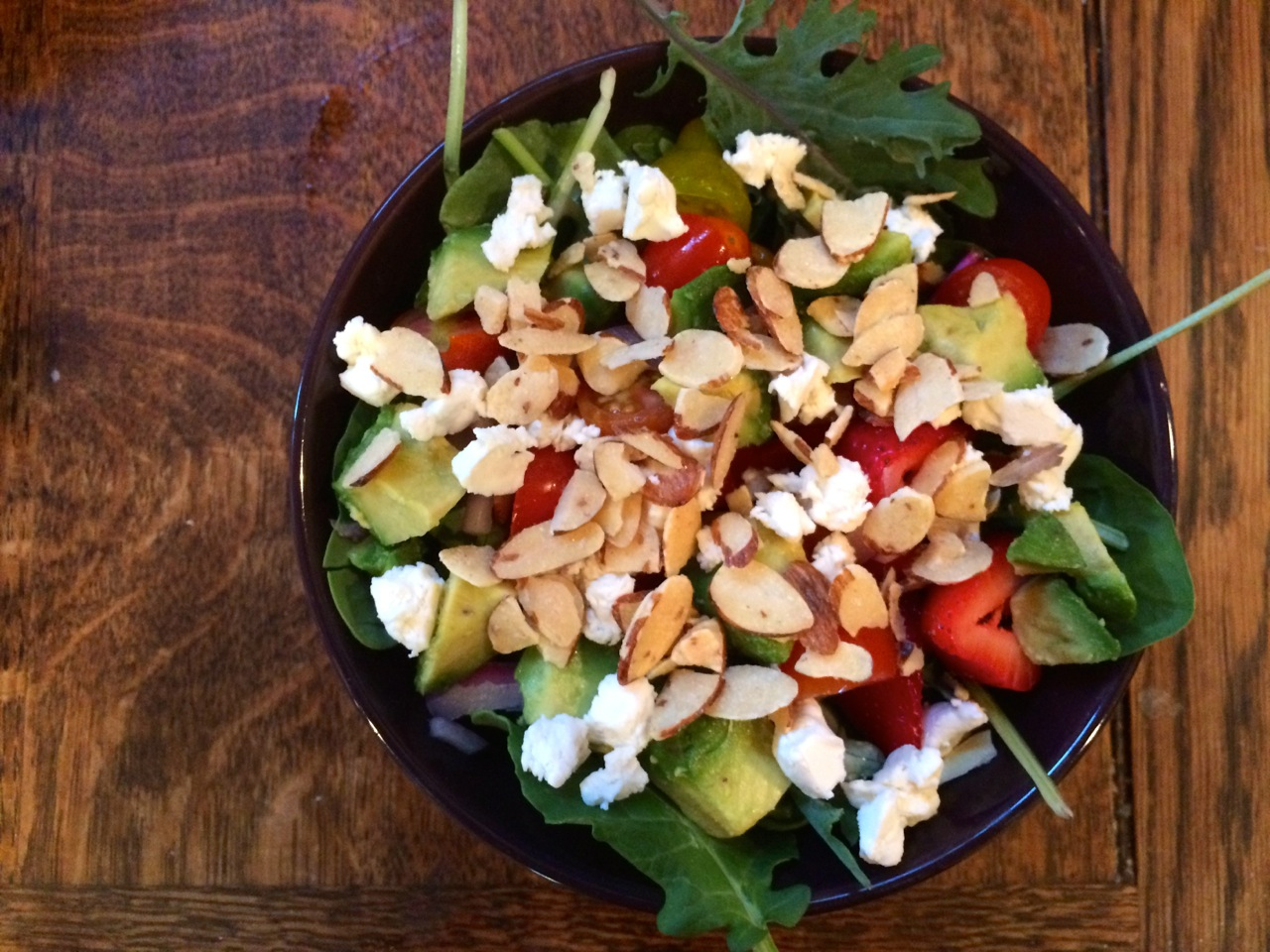 Honeyed Strawberry Avocado Salad with Almonds