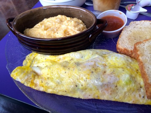 Marfa Buns and Roses Breakfast Omelet