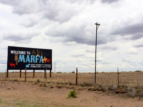 Marfa Highway Welcome Sign