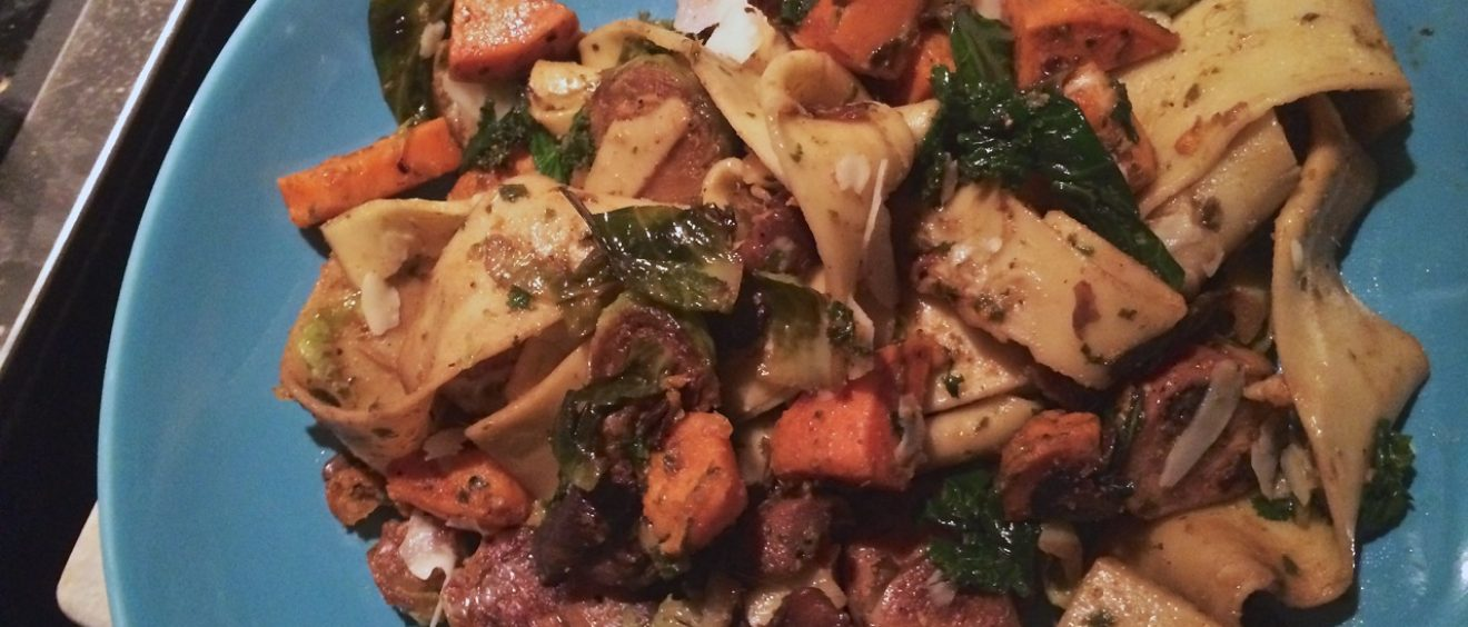 Roasted Vegetable Pappardelle