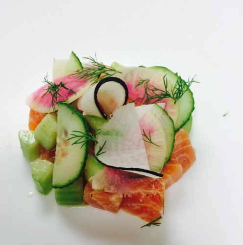 Miso-Cured Salmon with Cucumber Vinaigrette