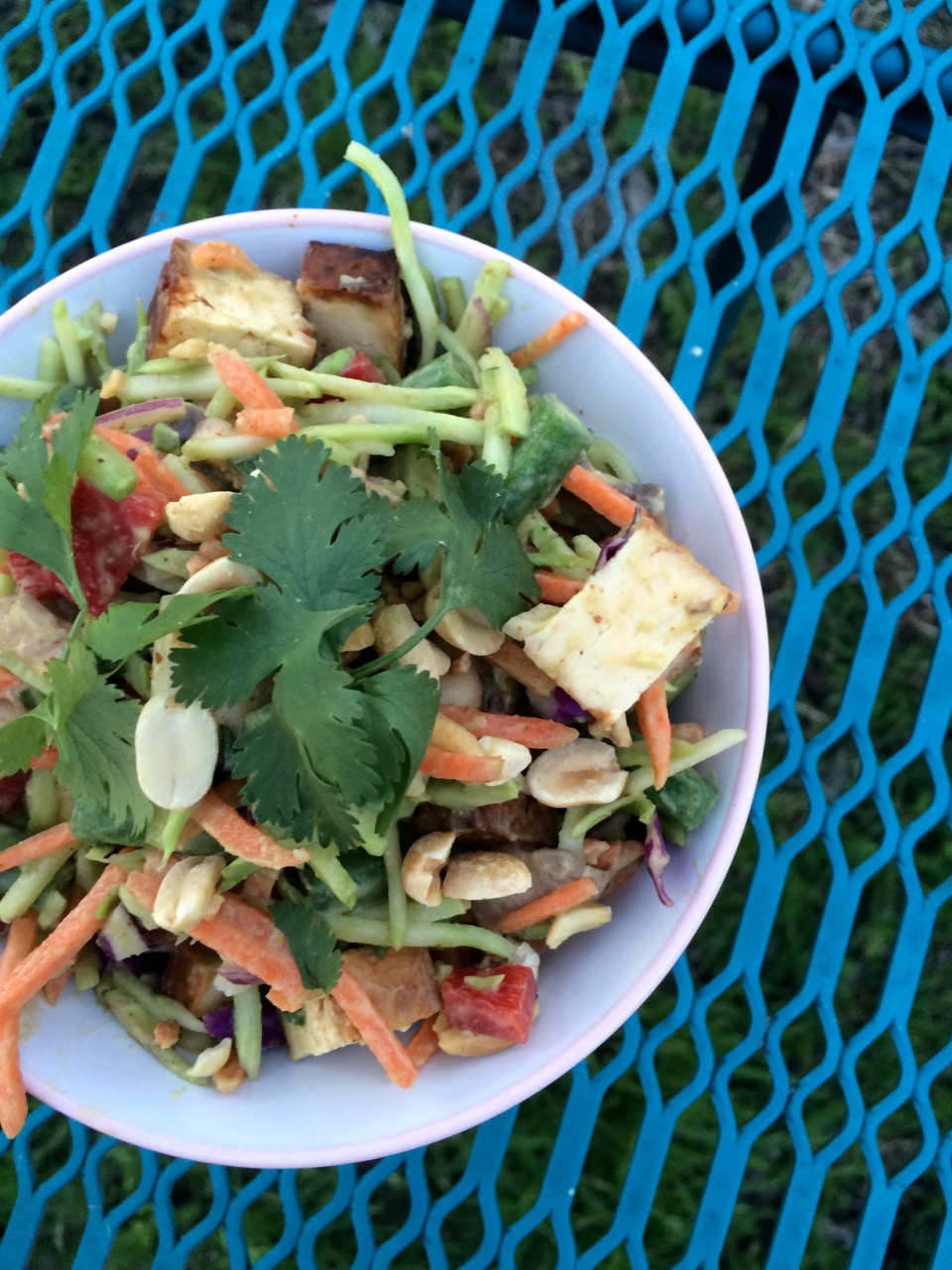 Crunchy Chopped Thai Peanut Tofu Salad Vertical