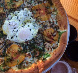 Heirloom Tomato and Fried Egg Pizza ABGB