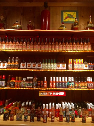 Rustlin Rob's Fredericksburg, TX Hot Sauce Room