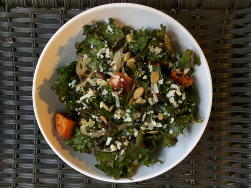 Warm Fall Kale Salad