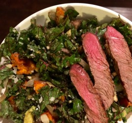 Warm Fall Kale Salad with Bison