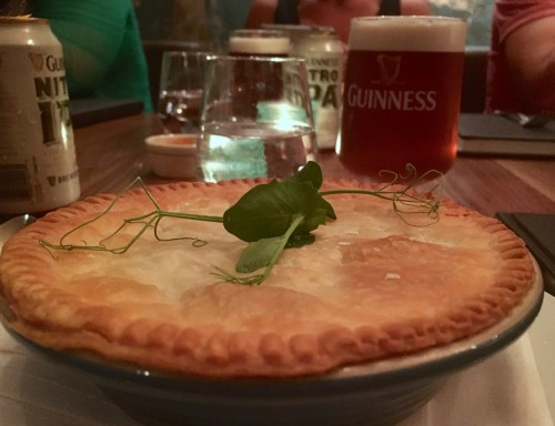 Guinness IPA and Seafood Pie at Fixe
