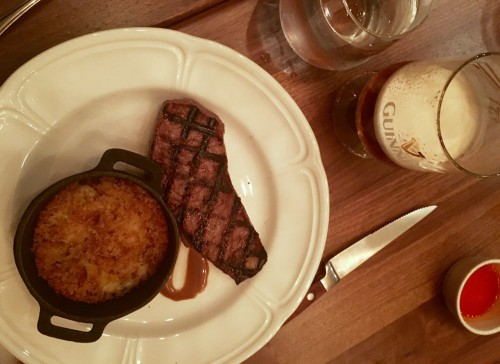 Guinness IPA and Steak at Fixe
