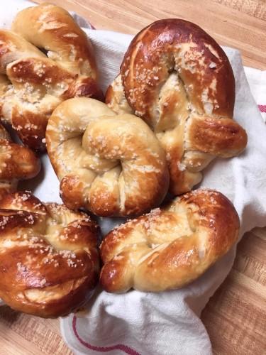 Homemade baked pretzels