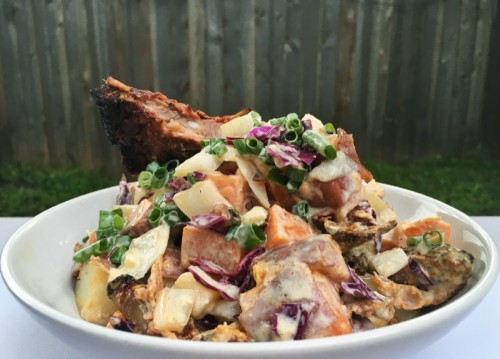 Rib-tato Salad with Smithfield Pork Spareribs