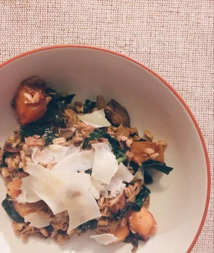 Farro with Pork Ragu and Butternut Squash