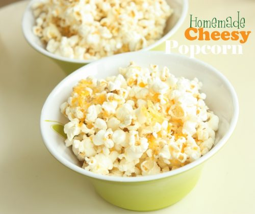 Homemade Cheesy Popcorn