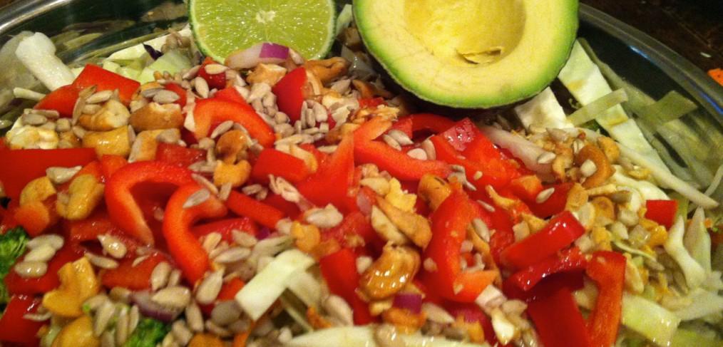Cabbage Cashew Detox Salad