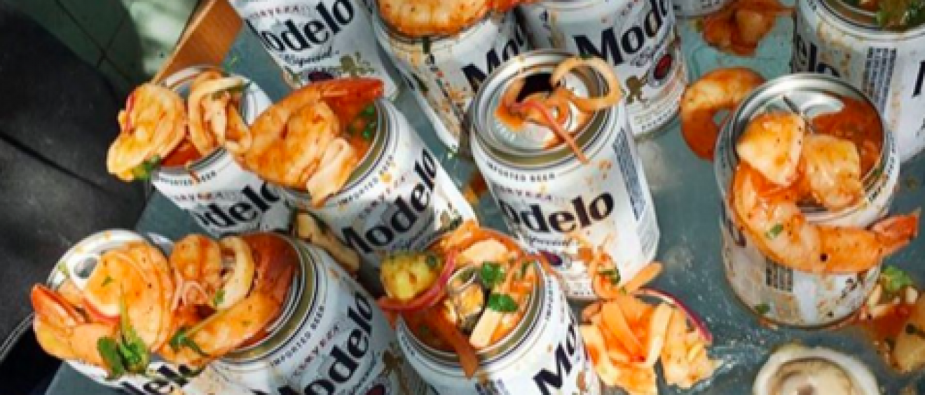 Ceviche Topped Beer at SXSW