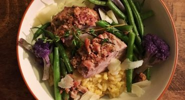 Pork Tenderloin over Risotto